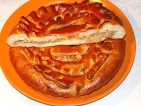 Русский пирог с яблоками и корицей 0,6 кг