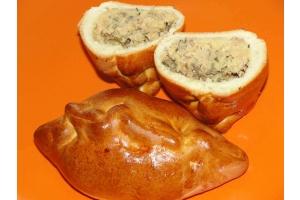 Средний пирожок с рыбой и картофелем