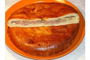 Русский пирог с мясом и картофелем 1кг