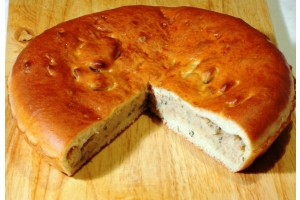 Русский пирог с рыбой и картофелем 1кг