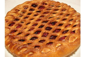 Постный пирог с ягодами 0,6кг