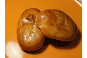 Постный пирожок с картошкой