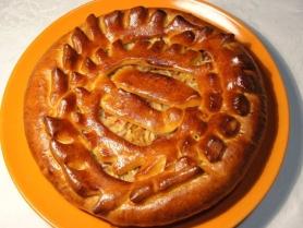 Постный пирог с яблоками 0,6кг